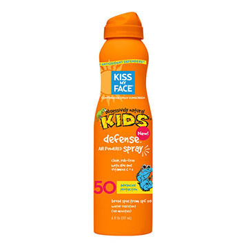 Kiss My Face Kids Defense w/ Any Angle SPF 50 Air-Powered Spray Sunscreen