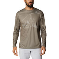 Columbia Men's PFG Terminal Tackle Running Line Long-Sleeve Shirt