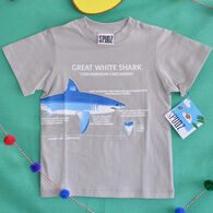 Spudz Boys' Great White Shark Short-Sleeve T-Shirt