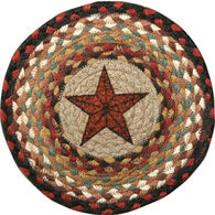"Capitol Earth Barn Star 10"" Round Braided Rug"