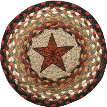 "Capitol Earth Barn Star 10"" Round Braided Rug"