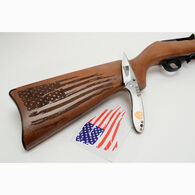 "Ruger 10/22 Distressed Flag 22 LR 18.5"" Rifle & Knife Patriot Package - KTP Exclusive"