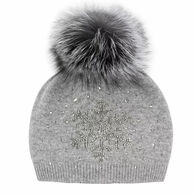 Mitchies Matching Women's Knitted Snowflake Hat