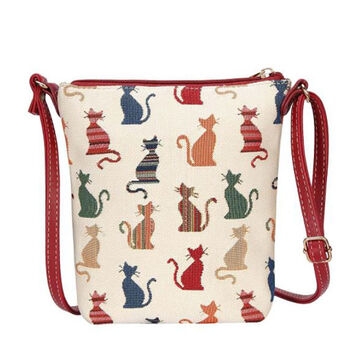 Signare Womens Cheeky Cat Sling Bag Purse Crossbody Handbag