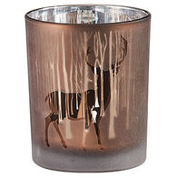 Park Designs Forest Silhouette Deer Votive Candle Holder