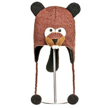 Knitwits Boys' & Girls' Barkley Beaver Hat