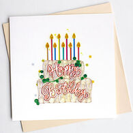 Quilling Card Birthday Cake Birthday Card