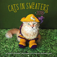 Cats in Sweaters 2018 Wall Calendar by Editors of Rock Point