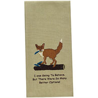 Park Designs Fox Embroidered Dishtowel