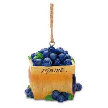 Cape Shore Resin Blueberry Basket Ornament