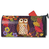 MailWraps Floral Owl Magnetic Mailbox Cover
