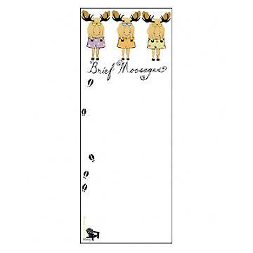 Hatley Little Blue House Brief Moosage Magnetic List Notepad