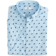 Southern Tide Men's Dolphin Print Intercoastal Performance Short-Sleeve Sport Shirt