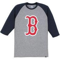 47 Brand Men's Boston Red Sox Raglan 3/4-Sleeve Night T-Shirt
