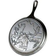 "Lodge Wildlife Series Moose 10.5"" Cast Iron Griddle"