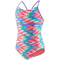 Speedo Girl's Hidden Tropical Strappy One-Piece Swimsuit