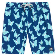Tom & Teddy Men's Turquoise Butterflies Boardshort