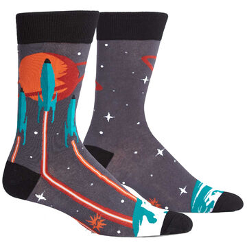 Sock It To Me Mens Launch From Earth Crew Sock