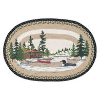 Capitol Earth Loon on Lake Oval Patch Braided Rug