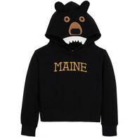 Wild Child Hoodies Boys' & Girls' Black Bear Hooded Sweatshirt