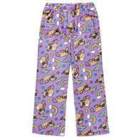 Candy Pink Girl's Pugicorn Pajama Pant