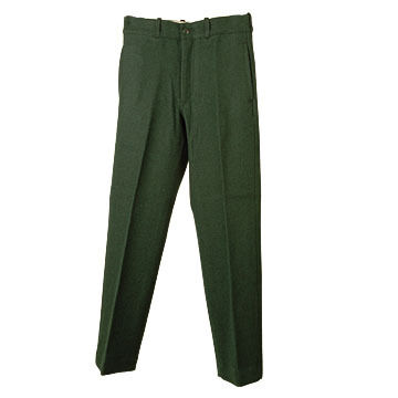 Johnson Woolen Mills Mens Wool Spruce Green Pant
