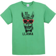 Pacific Art Men's No Prob Llama Short-Sleeve T-Shirt