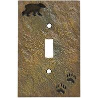 Big Sky Carvers Bear And Tracks Single Switch Plate