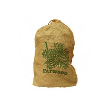 Wood Products 4-Lb. Burlap Bag Fatwood Firestarter