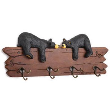 Big Sky Carvers Bears In Love Coat Rack