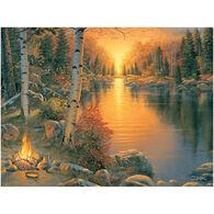 River Edge Campfire At Sunset LED Art
