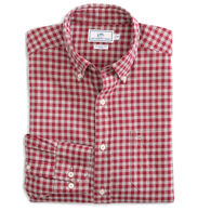 Southern Tide Men's Wharf Heathered Gingham Button-Down Long-Sleeve Shirt