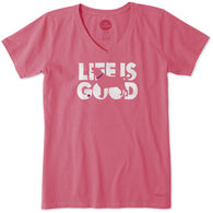 Life is Good Women's Knockout Dog Crusher Short-Sleeve T-Shirt