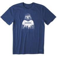 Life is Good Men's Grandpa Bear Crusher Short-Sleeve T-Shirt
