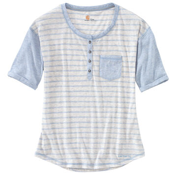 89284449 Carhartt Women's Striped Henley Short-Sleeve Shirt | Kittery Trading ...