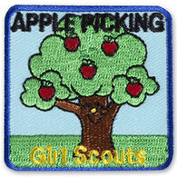 Girl Scouts Apple Picking Tree Sew-On Fun Patch