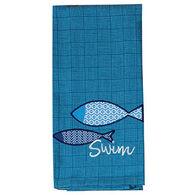 Kay Dee Designs Water's Edge Swim  Applique Tea Towel