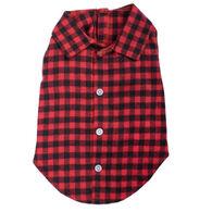 The Worthy Dog Buffalo Plaid Dog Shirt