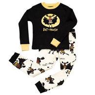 Lazy One Boys' Bat Moose PJ Set