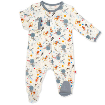 Magnetic Me Infant Boys Astro Pups Modal Magnetic Footie Pajama