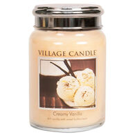 Village Candle Large Glass Jar Candle - Creamy Vanilla