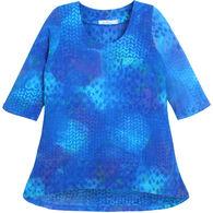 Su Placer Women's Monica Hi/Lo 3/4-Length Sleeve Tunic