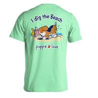 Puppie Love Women's I Dig The Beach Pup Short-Sleeve T-Shirt