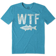 Life is Good Men's WTF Fish Cool Short-Sleeve T-Shirt
