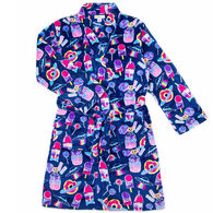 Candy Pink Girl's Galaxy Food Fleece Robe