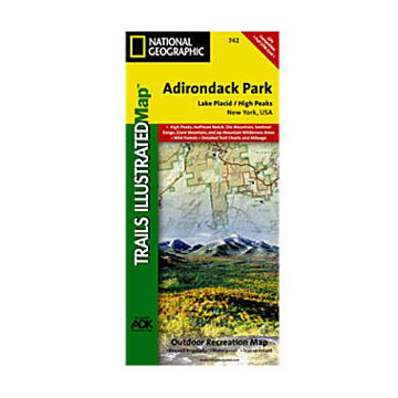 National Geographic Lake Placid High Peaks Trail Map