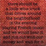 Paisley & Parsley Designs Wine Truck Marble Tiles Coaster