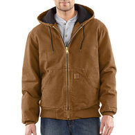 Carhartt Men's Big & Tall Sandstone Active Jac Quilted Flannel-Lined Coat