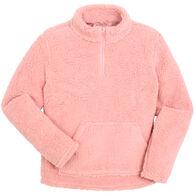 Sabrina Lauren Women's Furry Quarter-Zip Fleece Pullover