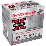 "Winchester Super-X Xpert High Velocity Steel Shot 20 GA 2-3/4"" 3/4 oz. #6 Shotshell Ammo (25)"